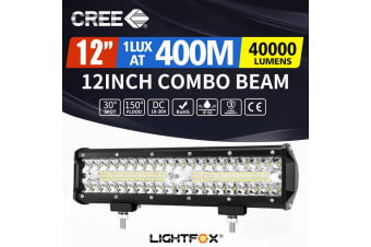 LIGHTFOX 12inch CREE LED Work Light Bar Work Driving Lamp Combo OffRoad 4WD