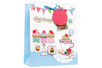 Simon Elvin Polka Dot & Cake Design Gift Bags (Pack of 6) (White/Pink/Blue)