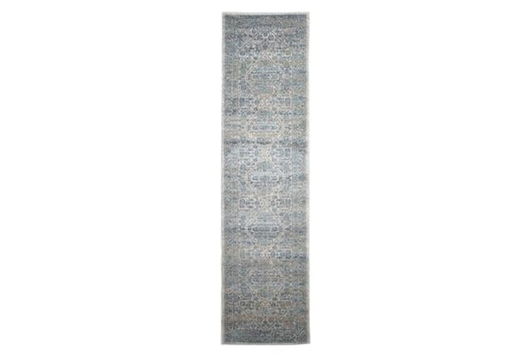 Duality Silver Transitional Rug 300x80cm