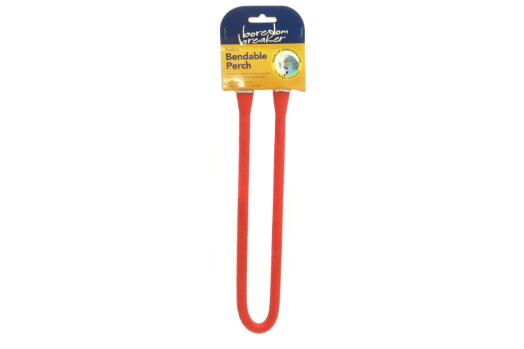 Rosewood Boredom Breaker Bendable Perch (Red) (Small)
