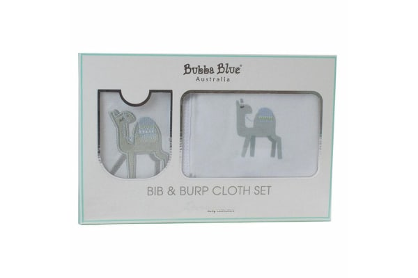 2PK Bubba Blue Sahara Bib & Burp Cloth Set