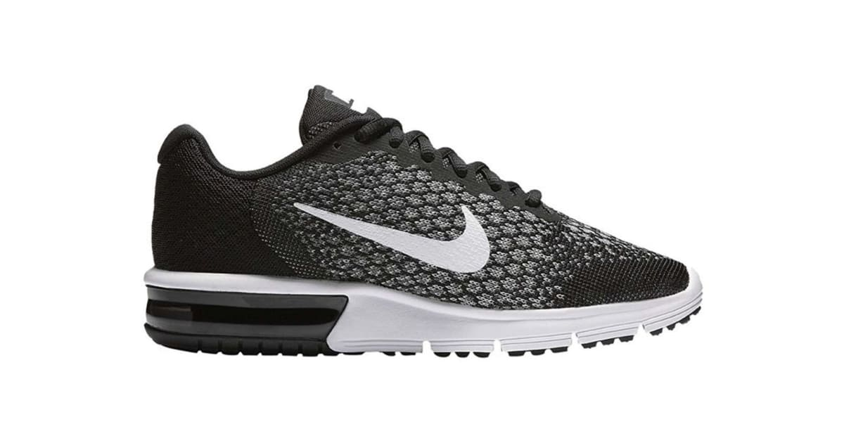 ced2a213a2 Nike Women's Air Max Sequent 2 Running Shoe (Black/Dark Grey/White, Size  10.5) - Kogan.com
