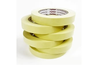 6x Loytape High Temperature Masking Tape Roll 18mm x 50m Automotive Painting