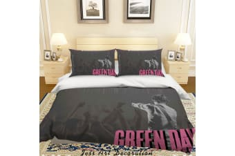 3D Rock Band Green Day Quilt Cover Set Bedding Set Pillowcases 55