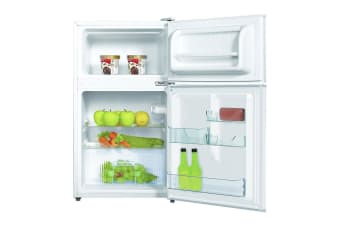 Palsonic 91L Two Door Bar Fridge/Refrigerator w/Freezer Cooler Home/Office White