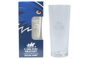 ADELAIDE CROWS AFL 425ML BOXED GLASS