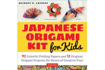 Japanese Origami Kit for Kids - 92 Colorful Folding Papers and 12 Original Origami Projects for Hours of Creative Fun!
