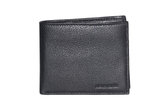 Pierre Cardin Mens Bi-fold Rfid Protected Wallet - Italian Leather - Black