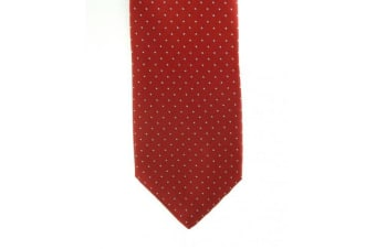 ShowQuest Pin Spot Tie (Red/White)