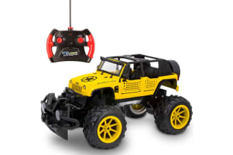 Jeep Wrangler Rubicon 1:16 RC Off Road Truck/Car/Kids/Toy/Yellow