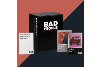Funny Bad People Party Card Voting Drinking Game