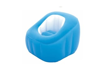 Bestway Cube Inflatable Air Chair Ottoman Indoor Outdoor Blue
