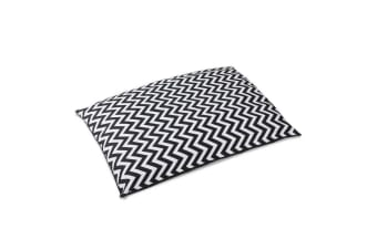 i.Pet Extra Large Canvas Pet Bed - Black and White