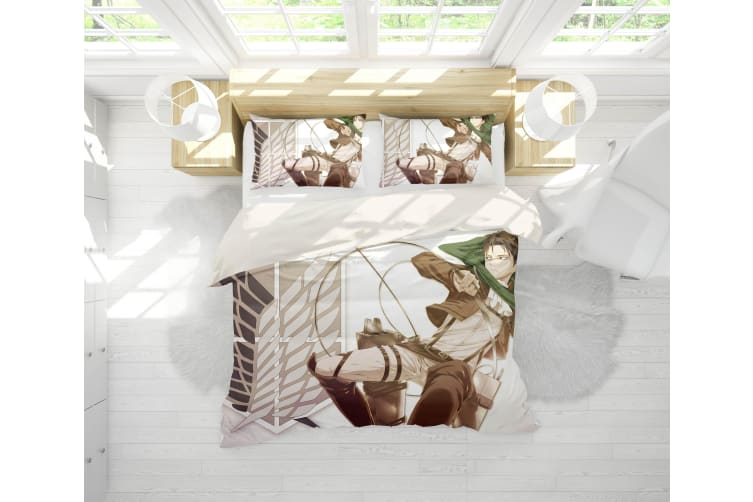 3D Anime Attack Giant Quilt Cover Set Bedding Set Pillowcases 67-Single