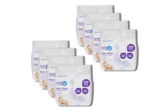 8x 240pc BabyU Baby/Infant/Kids Alcohol/Fragrance Free Absorbent Wet Wipes
