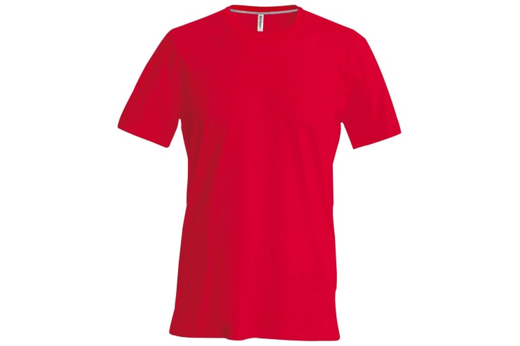 Kariban Mens Slim Fit Short Sleeve Crew Neck T-Shirt (Red) (3XL)