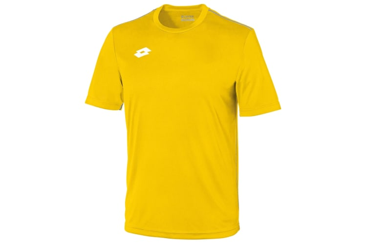 Lotto Junior Unisex Delta Jersey Short Sleeve Shirt (Yellow/White) (XLB)