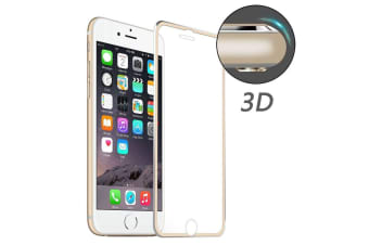 For iPhone 8 7 Screen Protector High-Quality 3D Tempered Glass Cover Gold