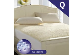 Queen Size Aus Made Fully Fitted Magnetic Wool Underlay