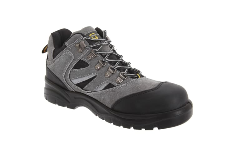 Grafters Mens Industrial Safety Hiking Boots (Dark Grey/Black) (9 UK)
