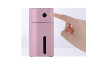 Select Mall LED Color Mini Mist Humidifier Portable USB Timing Air Purifier Humidifier 180ml Quiet Mute Humidifing Device-PINK