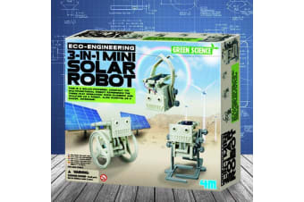 4M 3-in-1 Mini Solar Powered Robot Engineering Kit
