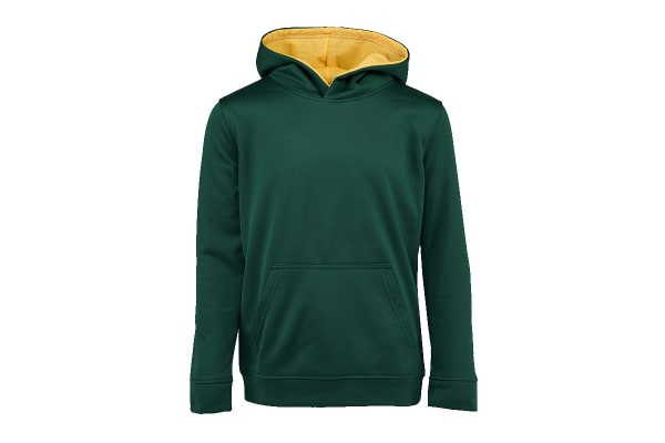 Champion Boys' Solid Performance Pullover Hoodie (Green, Size S)