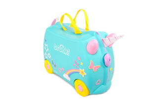 NEW TRUNKI RIDE ON SUITCASE TOY BOX CHILDREN KIDS LUGGAGE - UNA UNICORN