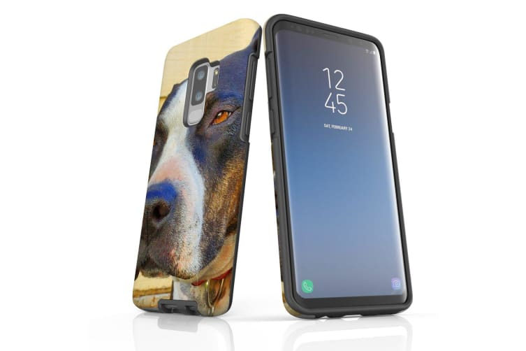 For Samsung Galaxy S9+ Plus Case Armour Cover  Sceptical Staffy