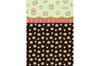 Victoriana - Rose Chintz - 2020 Premium Diary Planner A5 Padded Cover Christmas