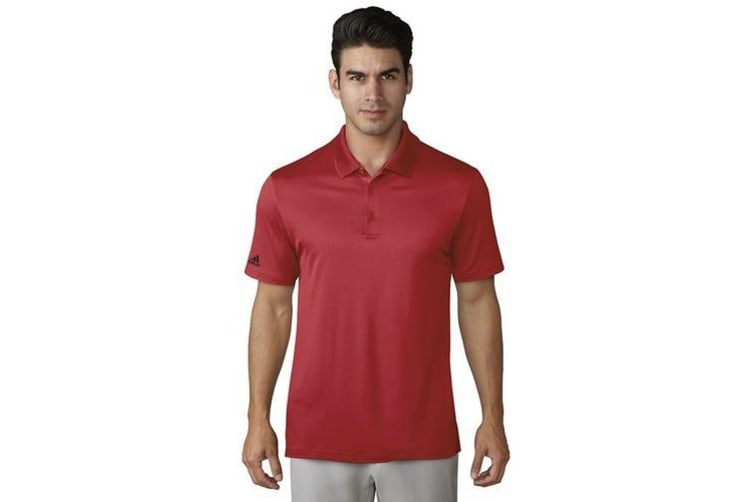Adidas Mens Performance Polo Shirt (Collegiate Red) (XS)