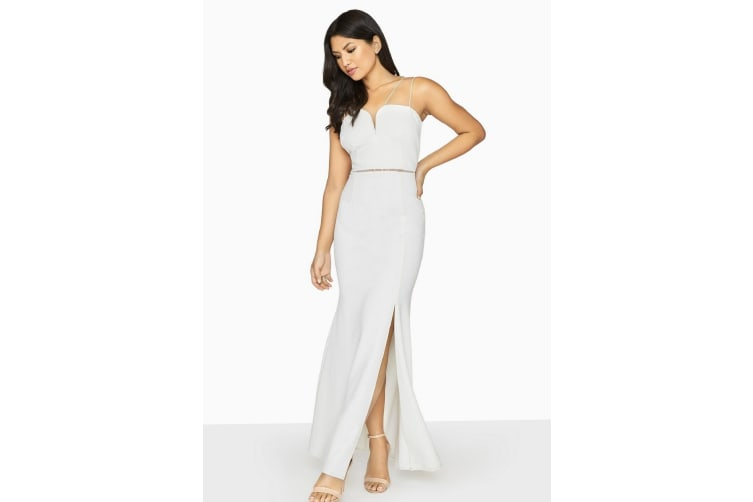 Girls On Film Womens/Ladies Midas Touch Sweetheart Maxi Dress (White) (10 UK)