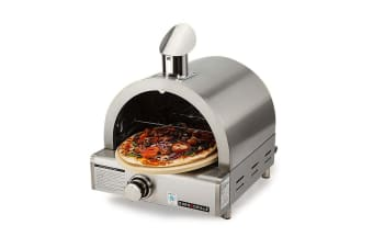 EuroGrille Portable Pizza Oven BBQ Camping LPG Gas Benchtop Stainless Steel