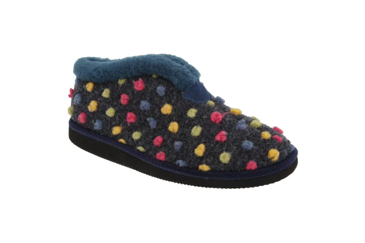 Sleepers Womens/Ladies Tilly Lightweight Thermal Lined Bootee Slippers (Blue/Multi) (7 UK)