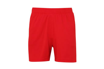 AWDis Just Cool Childrens/Kids Sports Shorts (Fire Red) (3/4 Years)