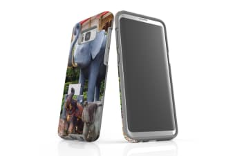 For Samsung Galaxy S8+ Plus Case Armour Cover  Elephant Statues