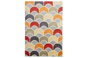 Awesome Fish Scale Design Rug Blue Red