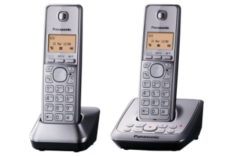 Panasonic Dect 6.0 Twin Handset Cordless Phone Answer Eco Mode Kx-Tg2722 - Refurbished