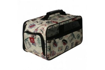 Bark N Bag Postage Classic Dog Carrier (Multicoloured) (Large)