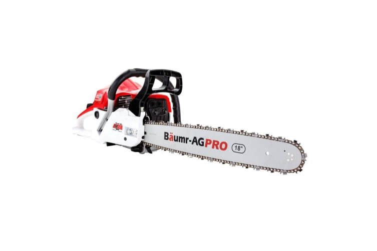 Baumr-AG 45CC Petrol Chainsaw Commercial 18 Inch Bar Chain Saw E-Start Pruning