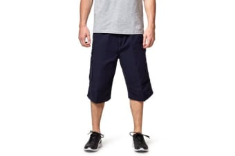 King Gee Worn G Long Cargo Shorts (Navy)