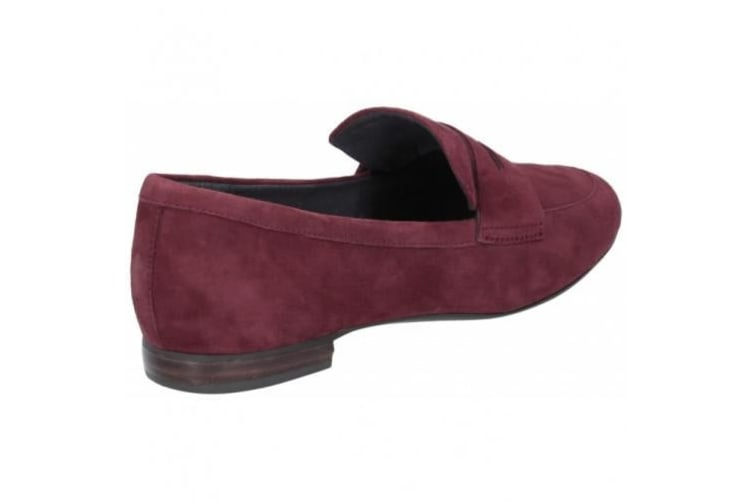 Rockport Womens/Ladies Suede Total Motion Tavia Penny Loafer (Maroon) (7 UK)