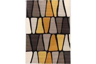 Rock Star Brown And Gold Rug 165x115cm