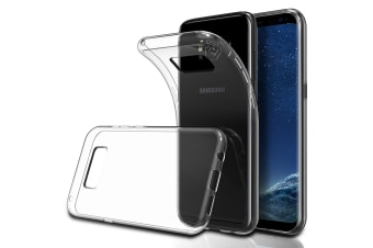 Samsung Galaxy S8 Ultra Slim Premium Crystal Clear TPU Gel Back Case by MEZON – Shock Absorption, Wireless Charging Compatible (S8, Gel)