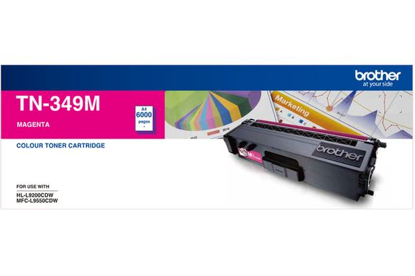 Brother TN-349 Magenta Toner 6000 Page, Suit HL-L9200CDW