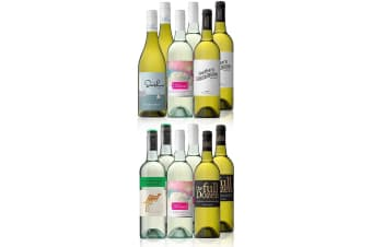 Australian Mixed White Wine Carton Featuring Yellow Tail Pinot Grigio (12 Bottles)