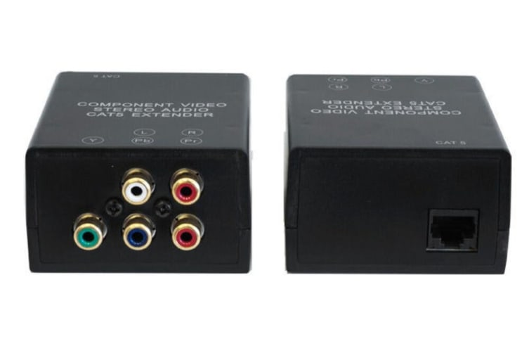 Cat5 Cat6 Component RGB Video + Stereo Audio RCA Extender Up To 100M YUV YPbPr