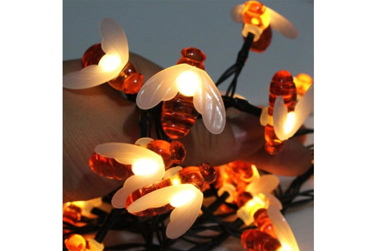 2PK 30 LED Solar String Bee Shape Patio/Outdoor Christmas/Decorative/Party Light