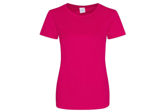 AWDis Just Cool Womens/Ladies Girlie Smooth T-Shirt (Hot Pink)