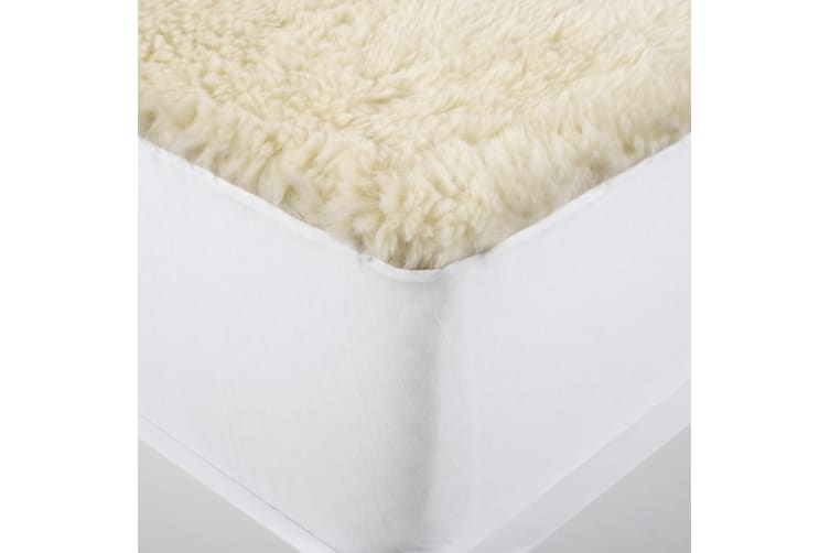 Wooltara 350GSM Washable Alpaca Wool Fleece Underlay Single Bed